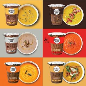 Набір крем-супів Street Soup у стаканах 6 шт. х 50 г (8768137287368)