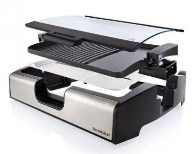 Контактний гриль електричний Silver Crest STGG 1800 A1, антипригарне покриття, чорний з сріблястим (ZE35012384)