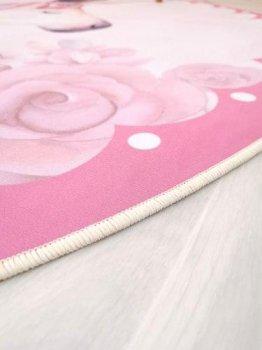 Килимок Комільфо мікрофібра Єдиноріг 160х160 рожевий КЕ2