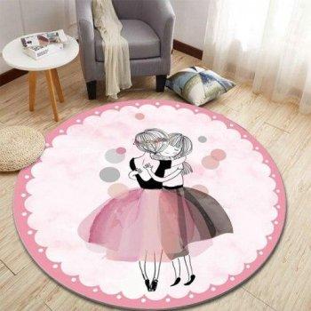 Килимок Комільфо мікрофібра Балерини 120х120 рожевий КБ1