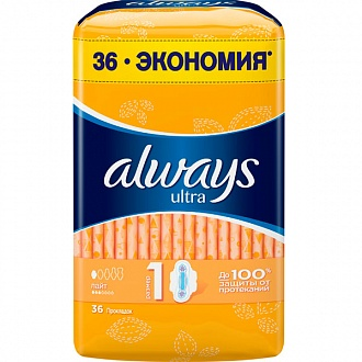 Гигиенические прокладки Always Ultra Light 36 шт (NL51305744)