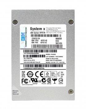 """SSD IBM Lenovo 800GB SAS 2.5"""" MLC HS 500 MB SSD (49Y6140) Refurbished"""