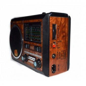 """Портативний радіо приймач """"GOLON"""" RX-277LSD USB FM Коричневий"""