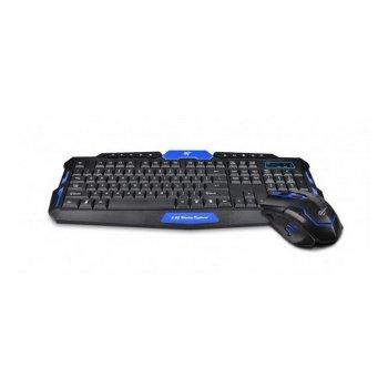 Клавіатура плюс миша бездротовий комплект HAVIT HV-KB559GCM USB black blue (24333)