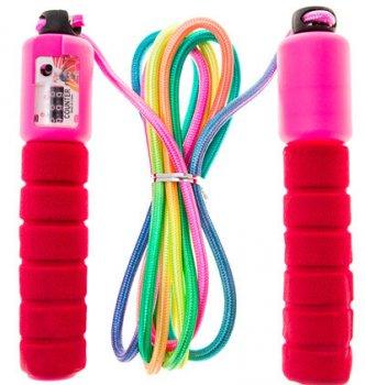 Скакалка World Sport з лічильником стрибків з неопреновыми ручками червона НХ-218