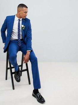 Завужені штани синього кольору Farah ASV290521-7 Синій