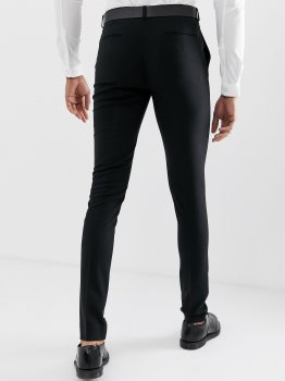 Чорні штани-скіні ASOS AS300521-8 Чорний