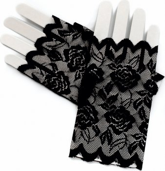 Перчатки Seta Decor Митенки гипюровые 13-863BLK Черные (2000041014019)