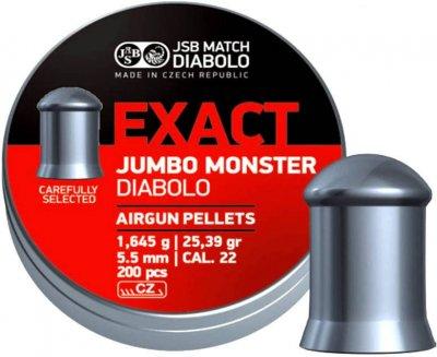 Кулі JSB Diabolo EXACT JUMBO MONSTER 5,5 mm. 200шт. 1,645 р.