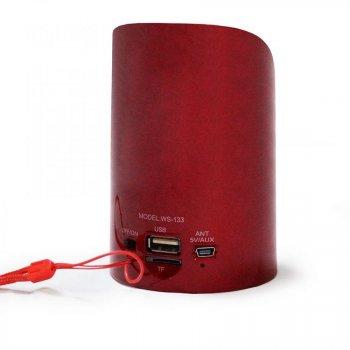 Портативна Bluetooth колонка Wester WS-133 Red (2_000630)