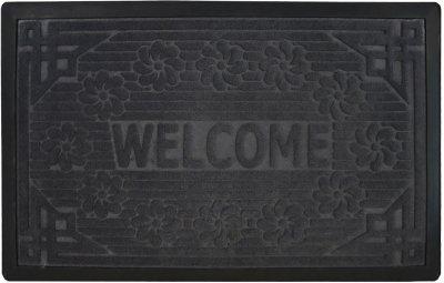 Придверний килимок Мой Дом 50х80 Сірий (TZR01458/Gr)