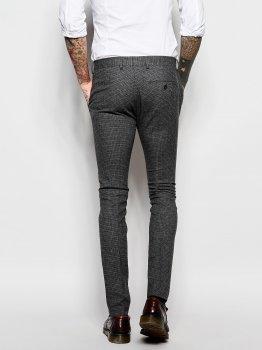 Суперобтислі штани з візерунком у гусячі лапки ASOS ASA020920-12 Сірий