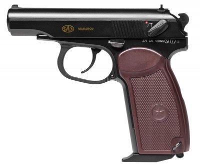 Пистолет пневматический SAS Makarov Blowback черный