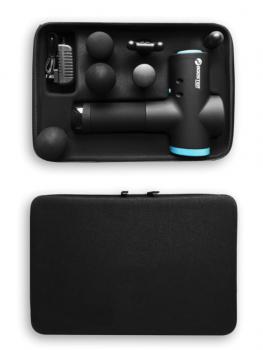 Массажер Антистрес терапевтический перкуссионный Booster M2 Черный 6 насадок