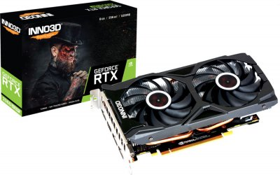 INNO3D PCI-Ex GeForce RTX 2060 Super Twin X2 OC 8GB GDDR6 (256bit) (1665/14000) (HDMI, 3 x DisplayPort) (N206S2-08D6X-1710VA15L)