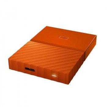"""Накопичувач зовнішній HDD 2.5"""" USB 1.0 TB WD My Passport Orange (WDBYNN0010BOR-WESN)"""