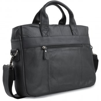 Мужская кожаная сумка Vintage 14054 Черная
