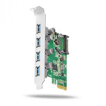 Контролер Axagon AXAGON PCIe Adapter 4x USB3.0 UASP VIA (PCEU-430V) Refurbished