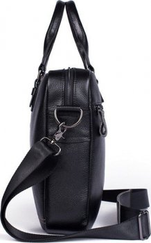 Чоловіча шкіряна сумка-портфель Vintage leather-14672 Чорна
