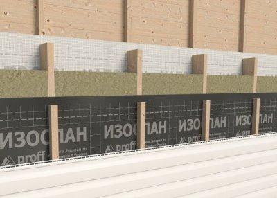 Мембрана вітрозахисна Ізоспан А 70 м2 двошарова з вогнезахисними домішками Чорна (11020006021000000000000)