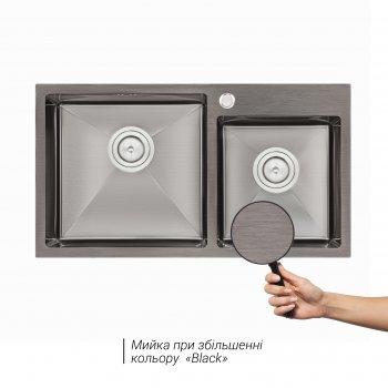 Кухонна мийка QTAP S7843BL 2.7/1.0 мм (QTS7843BRPVD10)
