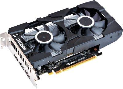 INNO3D PCI-Ex GeForce GTX 1650 D6 Twin X2 OC 4GB GDDR6 (128bit) (1455/12000) (HDMI, 2 x DisplayPort) (N16502-04D6X-1177VA25)