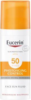 Солнцезащитный флюид для лица Eucerin SPF 50 антивозрастной 50 мл (4005800146619/4005800195884)