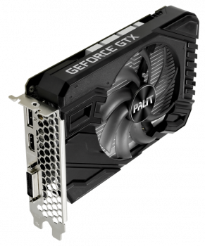 Palit PCI-Ex GeForce GTX 1650 StormX OC 4GB GDDR6 (128bit) (1410/12000) (DVI-D Dual-Link, HDMI, DisplayPort) (NE61650U18G1-166F)