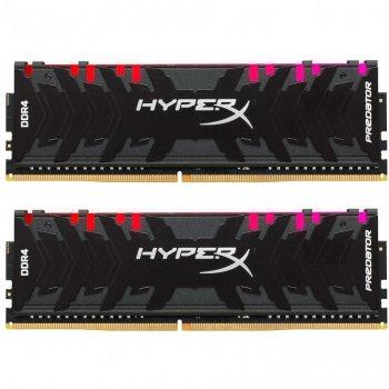 Модуль памьяті для комп'ютера DDR4 32GB (2x16GB) 3200 MHz HyperX Predator RGB Kingston (HX432C16PB3AK2/32)