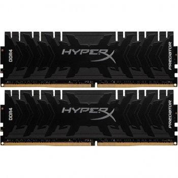 Модуль памьяті для комп'ютера DDR4 32GB (2x16GB) 3200 MHz HyperX Predator Black Kingston (HX432C16PB3K2/32)