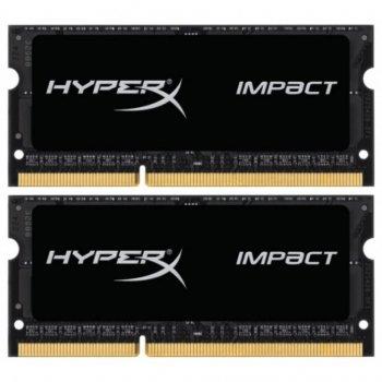Модуль памьяті для ноутбука SoDIMM DDR3L 16GB (2x8GB) 1866 MHz HyperX Impact Black Kingston (HX318LS11IBK2/16)