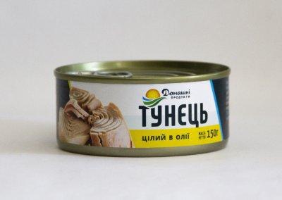 Тунець Домашні продукти 150г цілий в олії