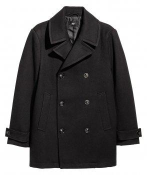 Пальто H&M 0501405 Чорне