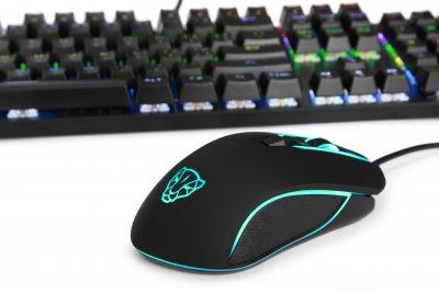 Комплект (клавіатура, миша) Motospeed CK888 Outemu Blue Silver/Black USB