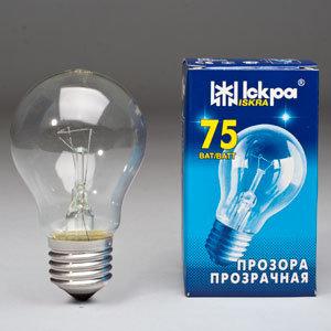 Лампа розжарювання Іскра 75 Вт Е27 індивідуальна упаковка