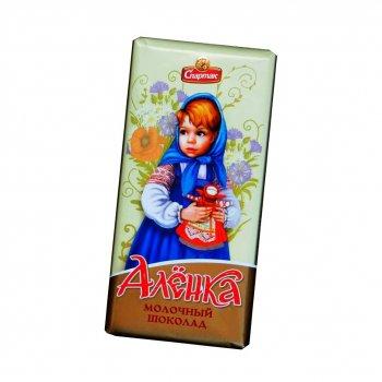 Шоколад Спартак Алёнка молочный 90 г