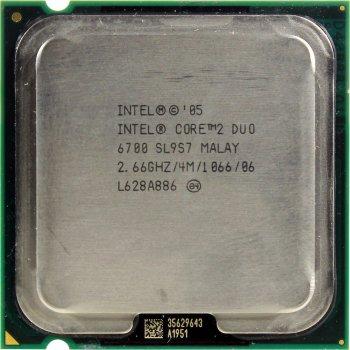 Процесор Intel Core 2 Duo E6700 2.66 GHz/4M/1066 (SL9S7) s775, tray