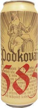 Упаковка пива Podkovan Lezak светлое фильтрованное 4.7% 0.5 л х 12 шт (8594170340438)