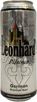 Упаковка пива Leonhard`s Pilsener светлое фильтрованное 4.9% 0.5 л х 24 шт (4079400341309)