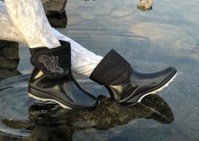 Гумові чоботи Selena з утеплювачем чорні L