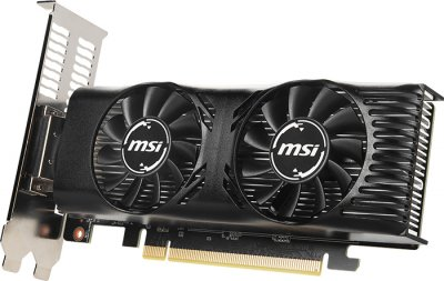 MSI PCI-Ex GeForce GTX 1650 Low Profile OC 4GB GDDR5 (128bit) (1695/8000) (DVI-D, HDMI, DisplayPort) (GTX 1650 4GT LP OC)