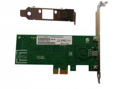 Сетевая карта для серверов Intel PCI-E to LAN, Intel Pro/1000, EXPI9301CTBLK, Low Profile (EW042)