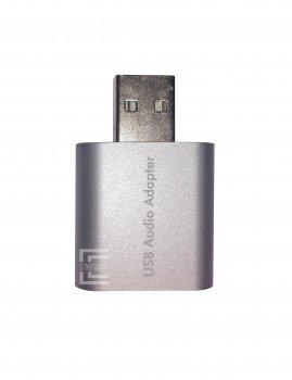 Звуковая карта Ewell USB C-Media 7.1 Channel, silver (EW122)