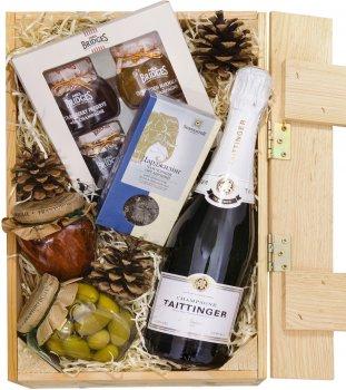 """Подарочный набор """"Шампань"""" в деревянной упаковке с ручками 0.75 л (21111)"""