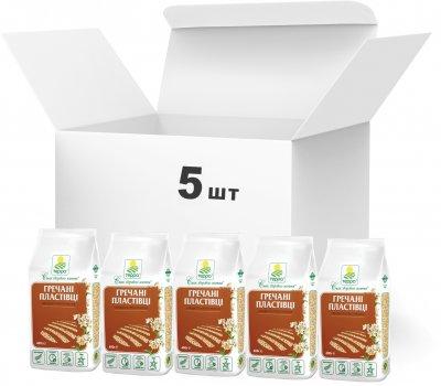 Упаковка пластівців Терра гречаних швидкого приготування 400 г х 5 шт. (4820015737359)