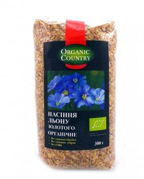 Семена льна Золотого органические Organic Country 300 г (4820200941424)