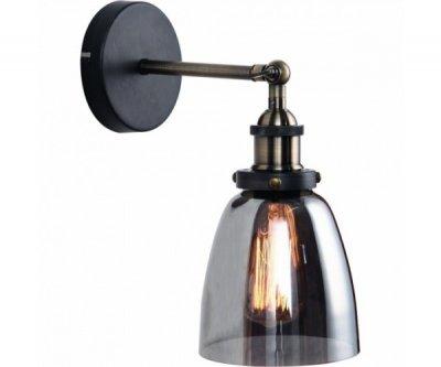 БРА SMOKE GLASS CLOCHE WALL LAMP