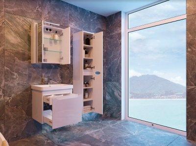 Зеркальный шкаф JUVENTA Livorno LvrMC-80 белый