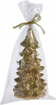 Свеча Christmas Decoration Gold 17х10х10 см (E15410490_gold)