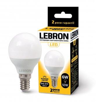 Лампа Lebron G45 6W E14 4100K 220V